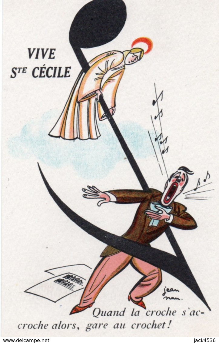 Carte Postale Ancienne - Non Circulé - Vive SAINTE CECILE - - Humour