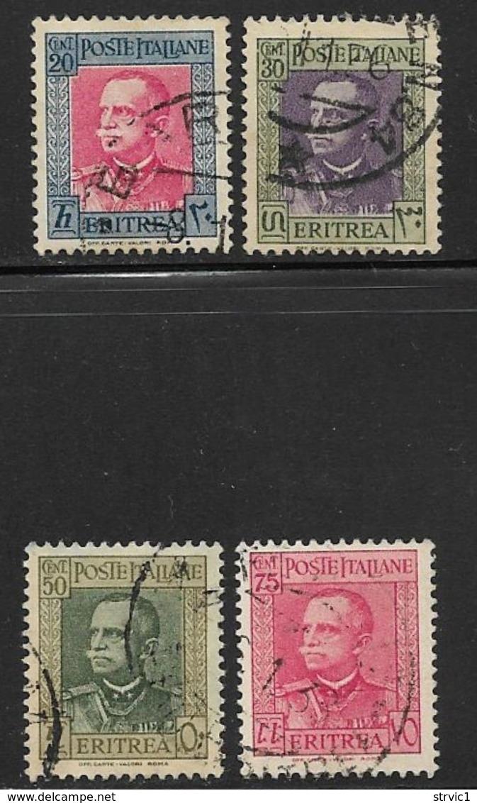 Eritrea Scott # 151-2,154-5 Used Victor Emmanuel, 1931 - Eritrea