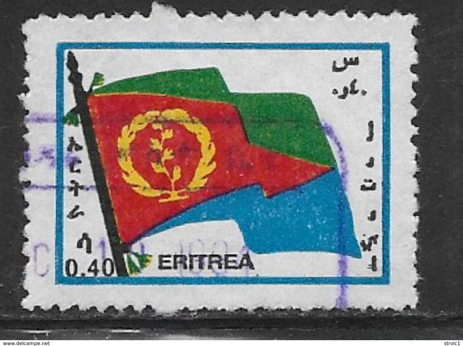 Eritrea Scott # 215 Used Flag, 1994 - Eritrea