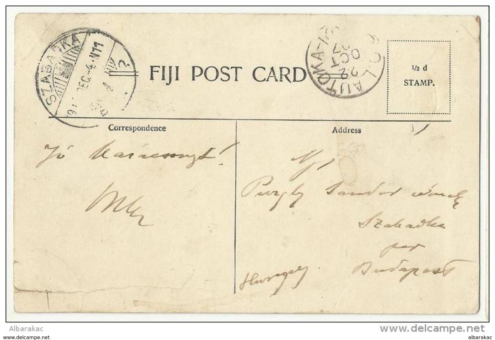 Fiji , Killing Turtle For Feast 1907 - Fidji