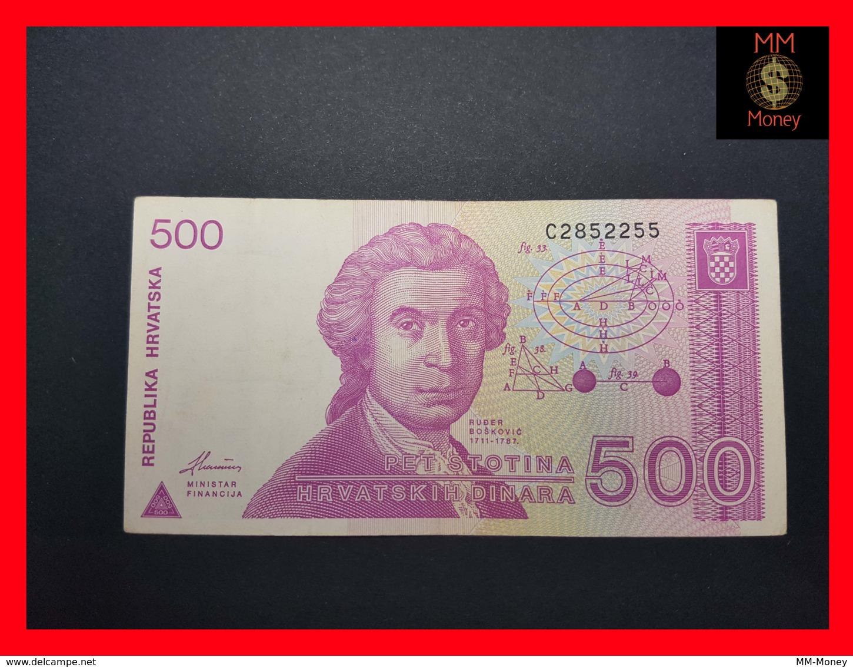 CROATIA 500 Dinara 8.10.1991  P. 21 VF - Croatie