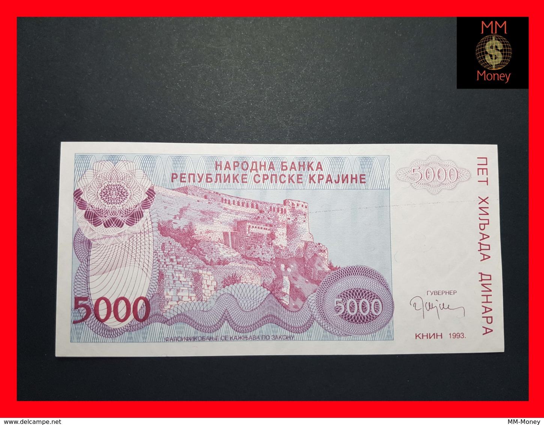 CROATIA 5.000 Dinara 1993 P.  R 20  UNC - Croatia