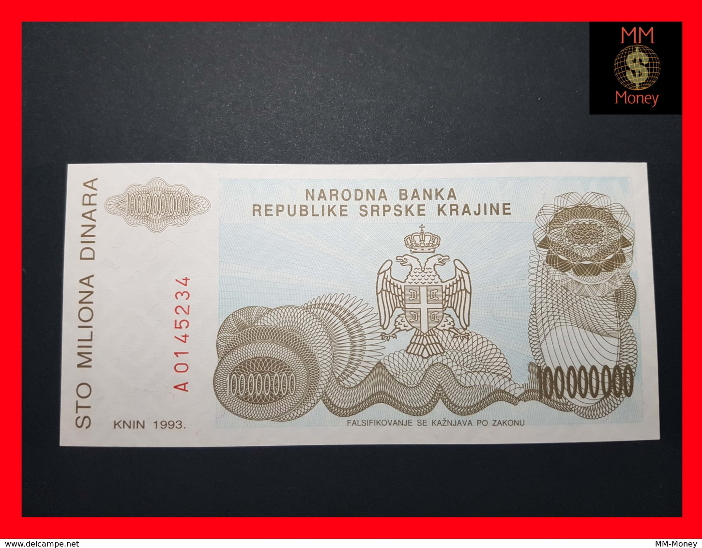 CROATIA 100.000.000 Dinara 1993 P.  R 25  UNC - Croatie