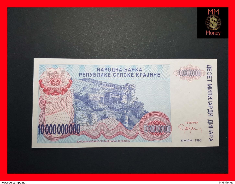 CROATIA 10.000.000.000 Dinara 1993 P.  R 28  UNC No Serial - Croatie