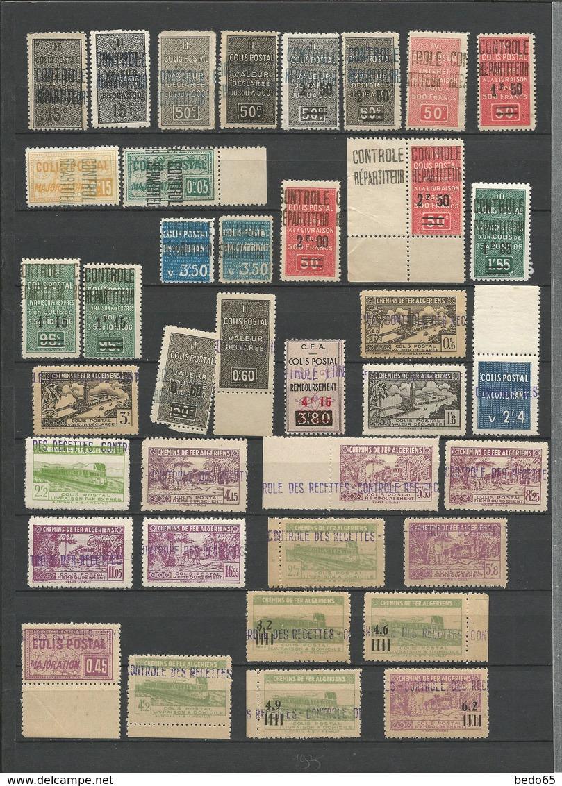 LOT ALGERIE COLIS POSTAUX  NEUF** LUXE  SANS CHARNIERE  / MNH / COTE MAURY 594€ - Algérie (1924-1962)