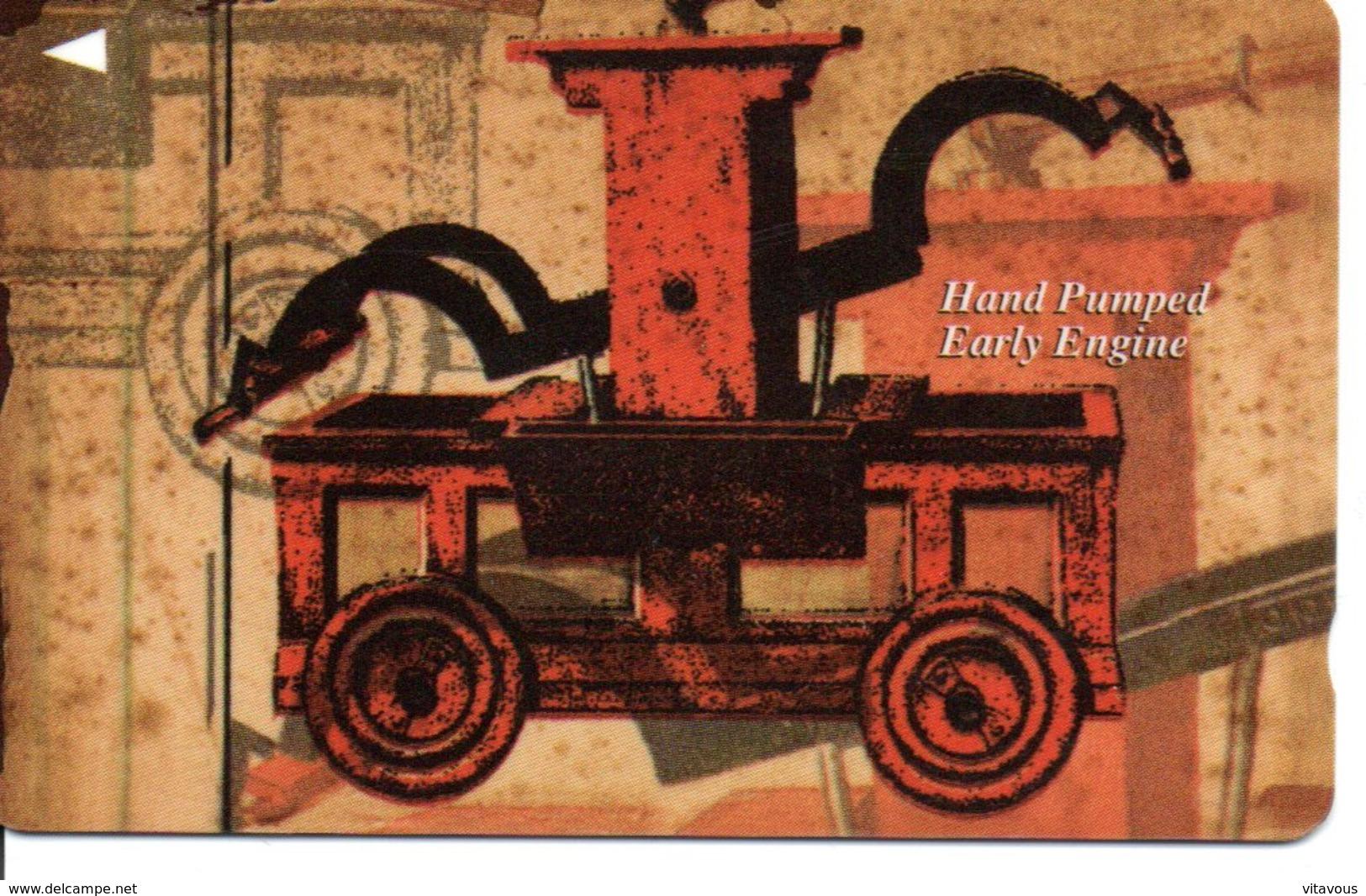 Télécarte Singapour  - Machine à Pompe à Moteur  Manuel - Hand Pumped Early Engine - Card  Karte (G 621) - Singapour