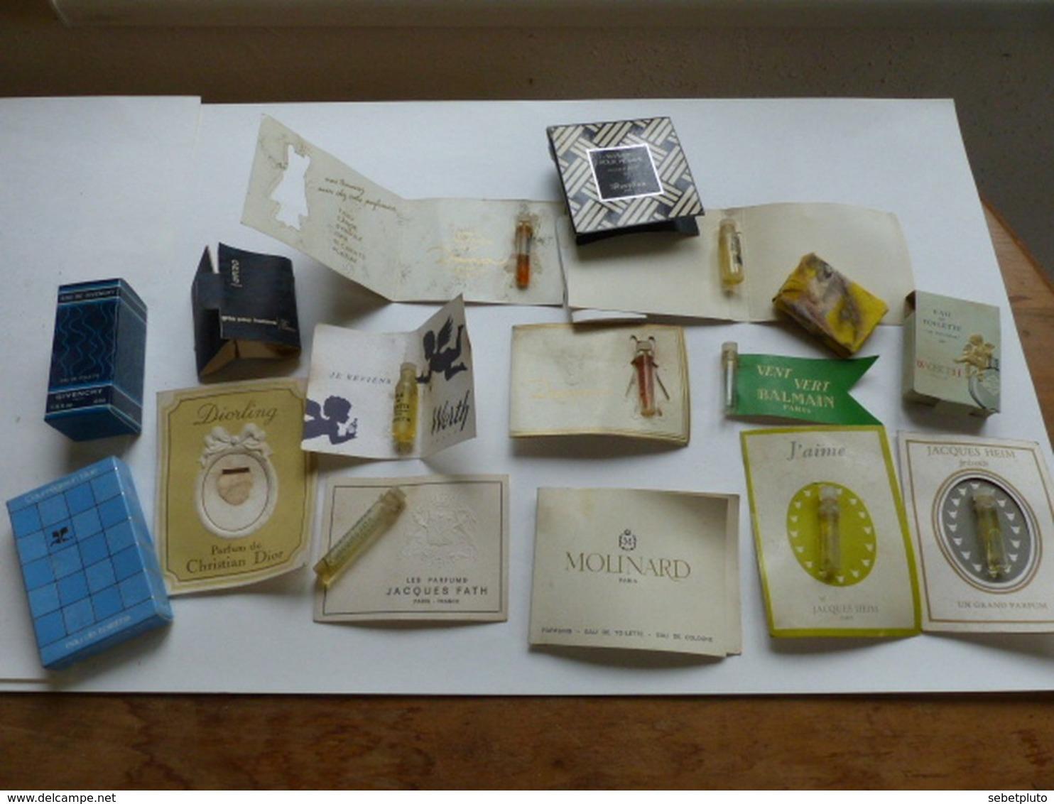 Echantillon Parfum Publicité Fath Worth Dior Balmain Etc.... - Miniatures De Parfum