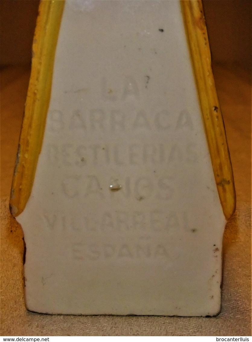 ANTIGUA BOTELLA DE CERÁMICA DE BRANDY LA BARRACA De VILLARREAL - Otras Colecciones
