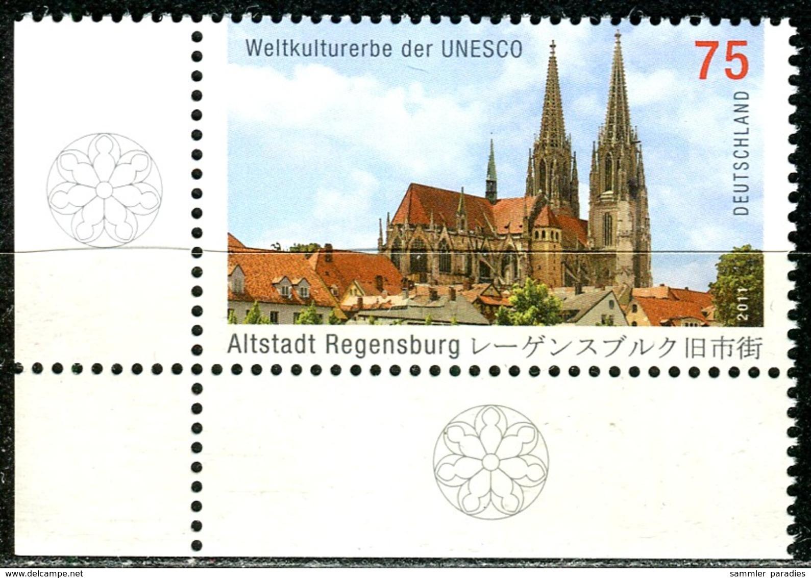 BRD - Michel 2845 ECKE LIU - ** Postfrisch (A) - 75C  UNESCO Weltkulturerbe Regensburg Altstadt - [7] Federal Republic