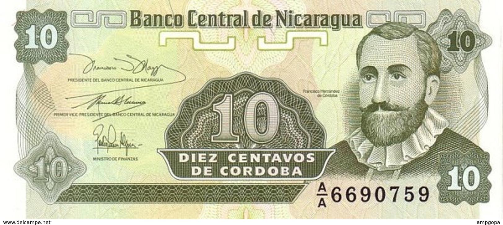 Nicaragua 10 Centavos 1991 Pick 169a.1 UNC - Nicaragua