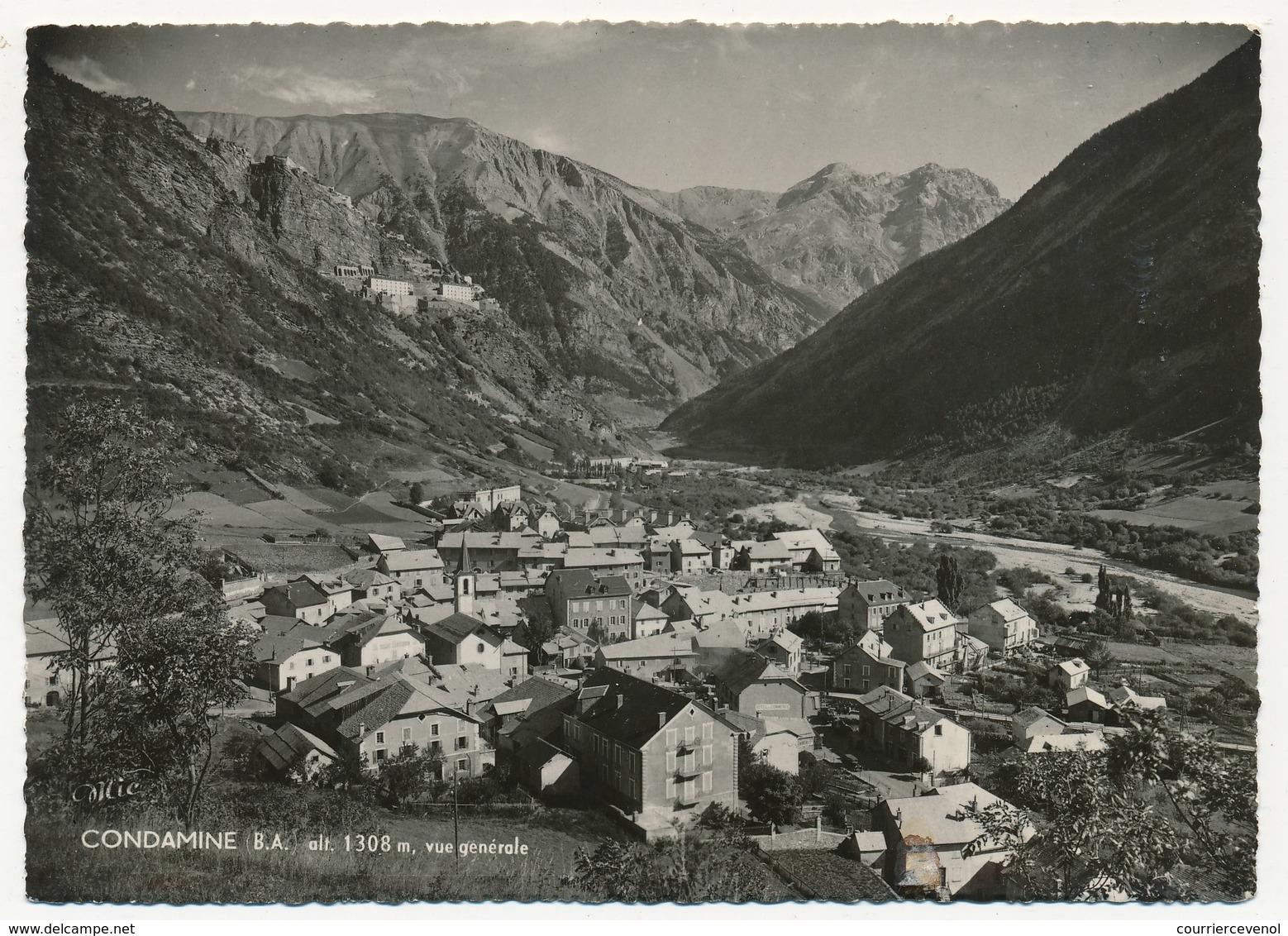 CPSM - Environs De BARCELONNETTE (Basses Alpes) - Condamine, Alt 1306m, Vue Générale - Barcelonnette