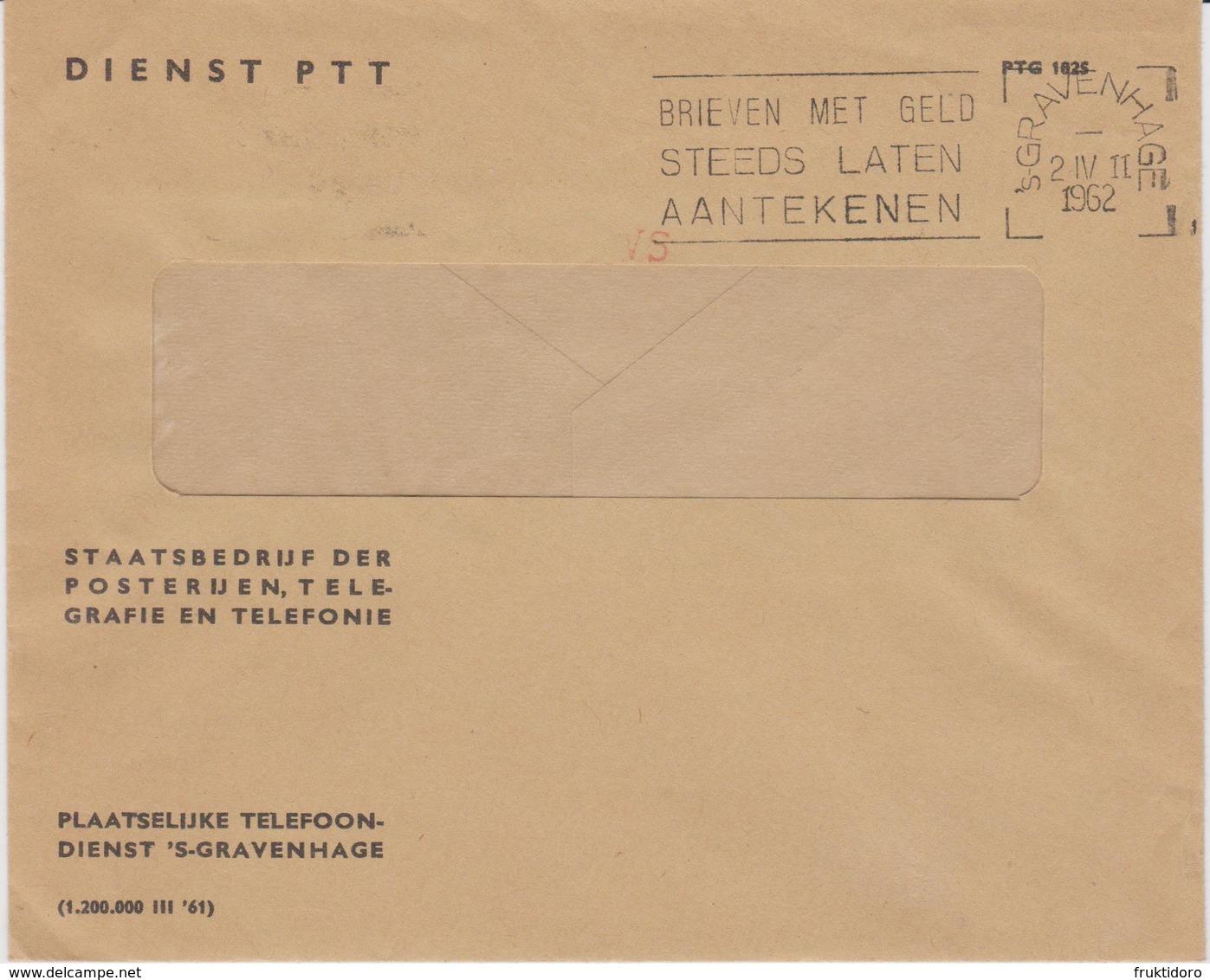 Netherlands Flamme Postale - Postmark - Poststempel Brieven Met Geld Steeds Laten Aantekenen - 1962 - Marcofilie - EMA (Print Machine)