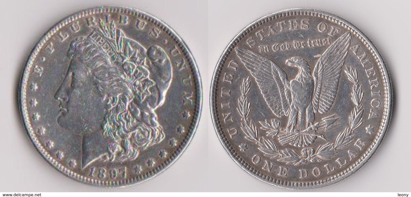 PIECE De ONE DOLLAR 1897 - ARGENT - UNITED STATES OF AMERICA - Amérique Centrale