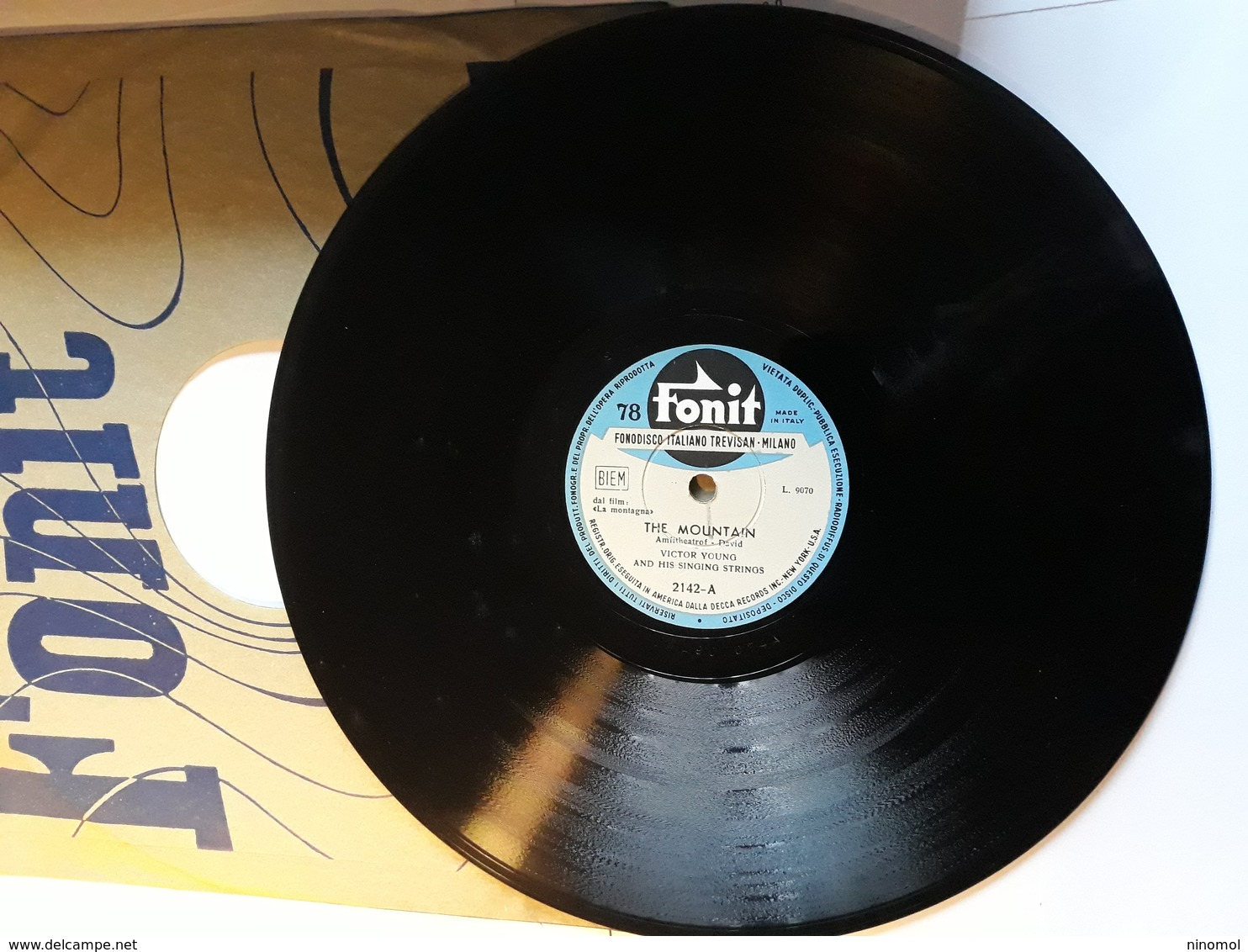 Fonit - Anni '50.  Serie  2142 . Victor Young. - 78 G - Dischi Per Fonografi