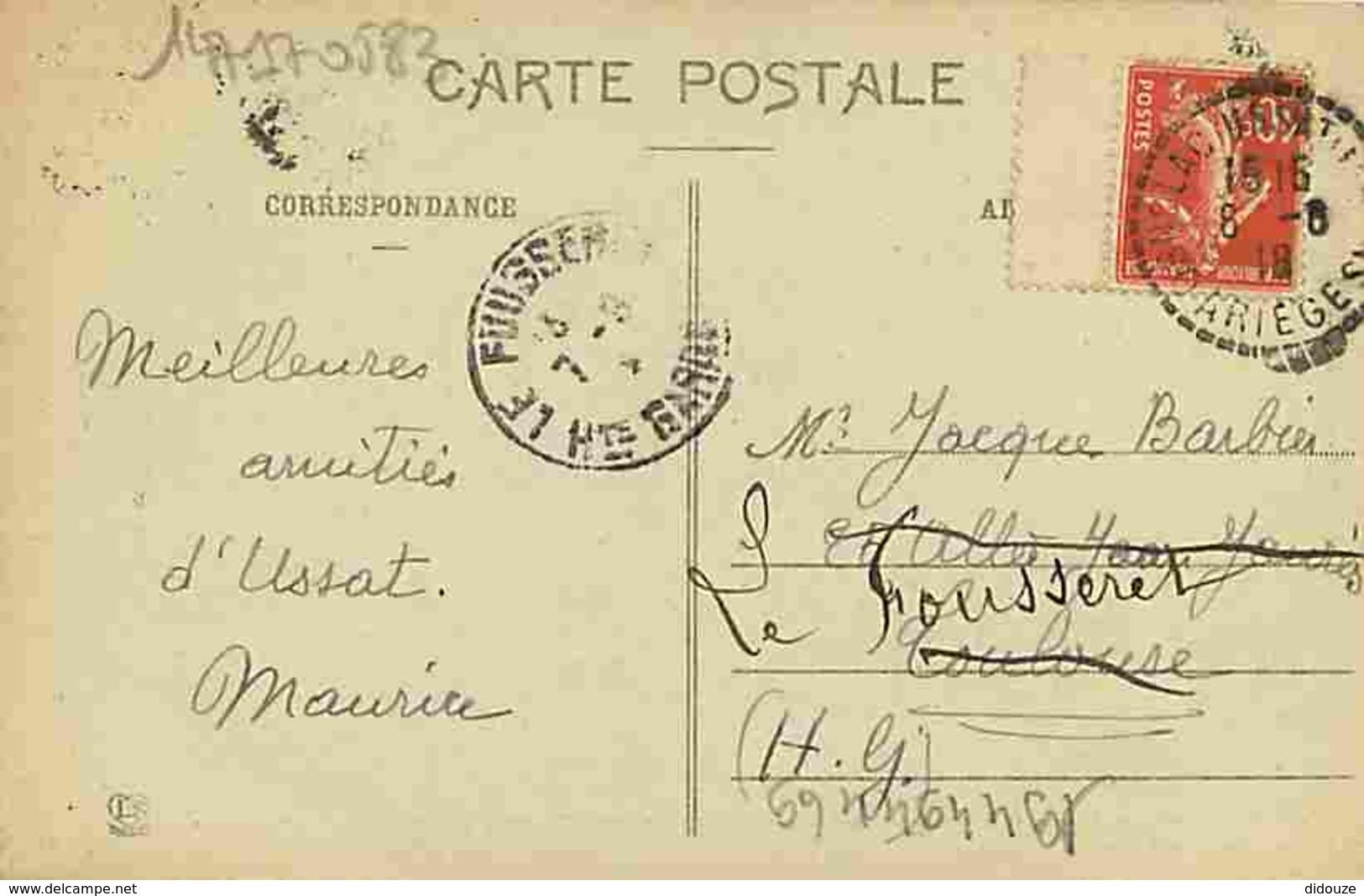 09 - Ariège - Route D'Espagne - Lacets Du Col De Puymaurens Au Dessus De L'Hospitalet - Oblitération Ronde De 1918 - Voi - France