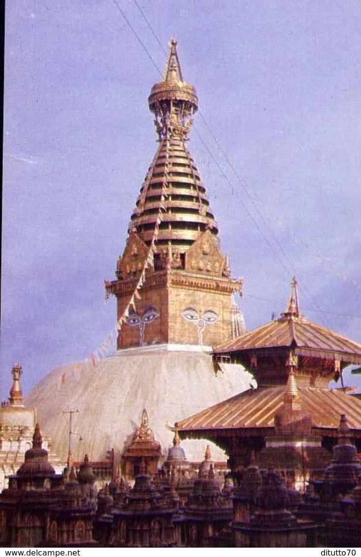 Swayambhunath Temple - Kathmandu - Nepal - Formato Grande Non Viaggiata – E 9 - Nepal