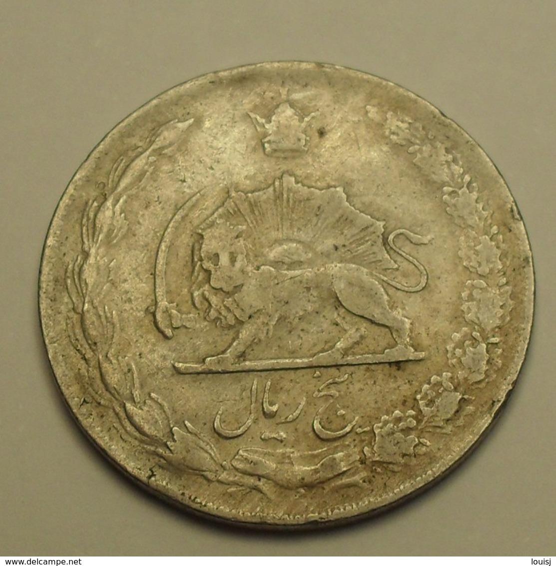1968 - Iran - 1347 - 5 RIALS, Mohammad Reza Pahlavi - KM 1176 - Iran
