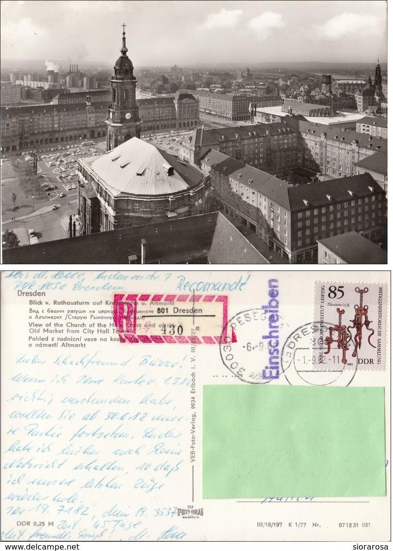 Germania Dresda - Frauenkirche Und Rathausturm - Torre Del  Municipio - Chiesa Di Nostra Signora - Dresden