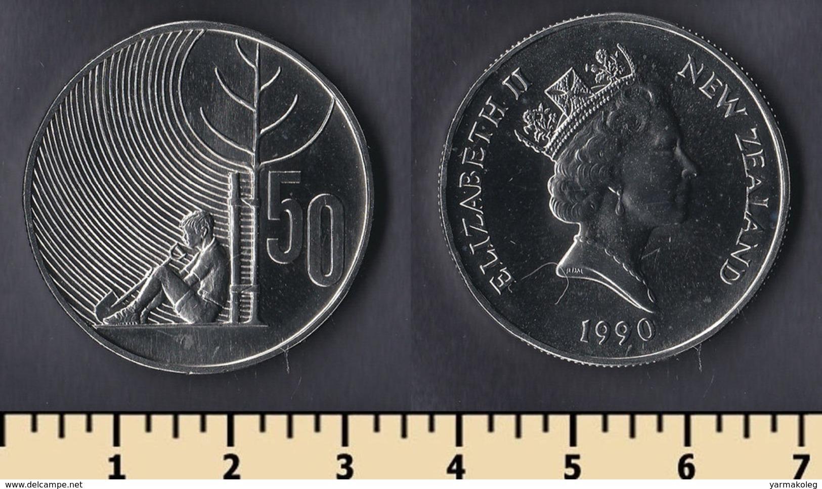 New Zealand 50 Cents 1990 - Nouvelle-Zélande