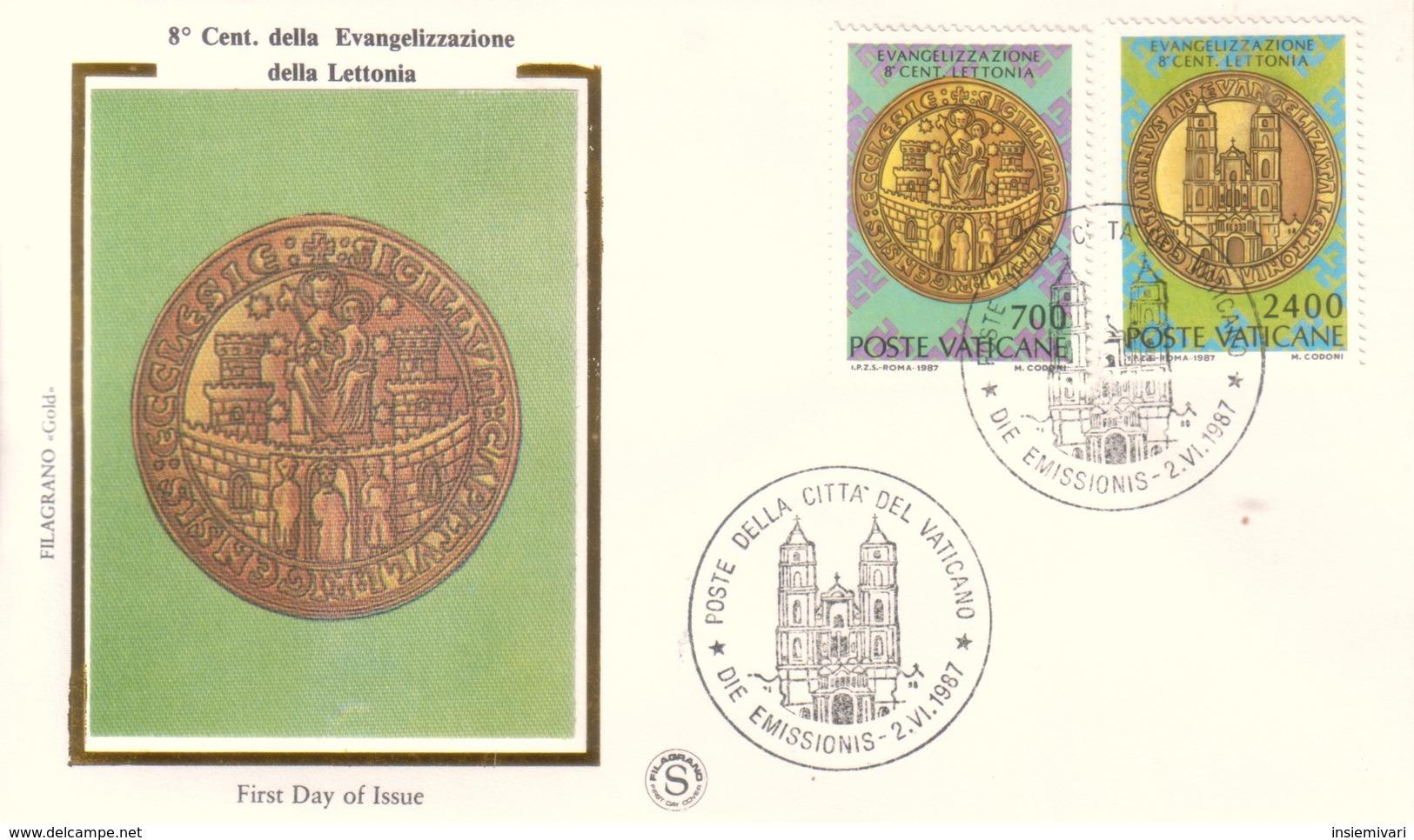 Vaticano 1987 FDC Filagrano Evangelizzazione Della Lettonia. - FDC