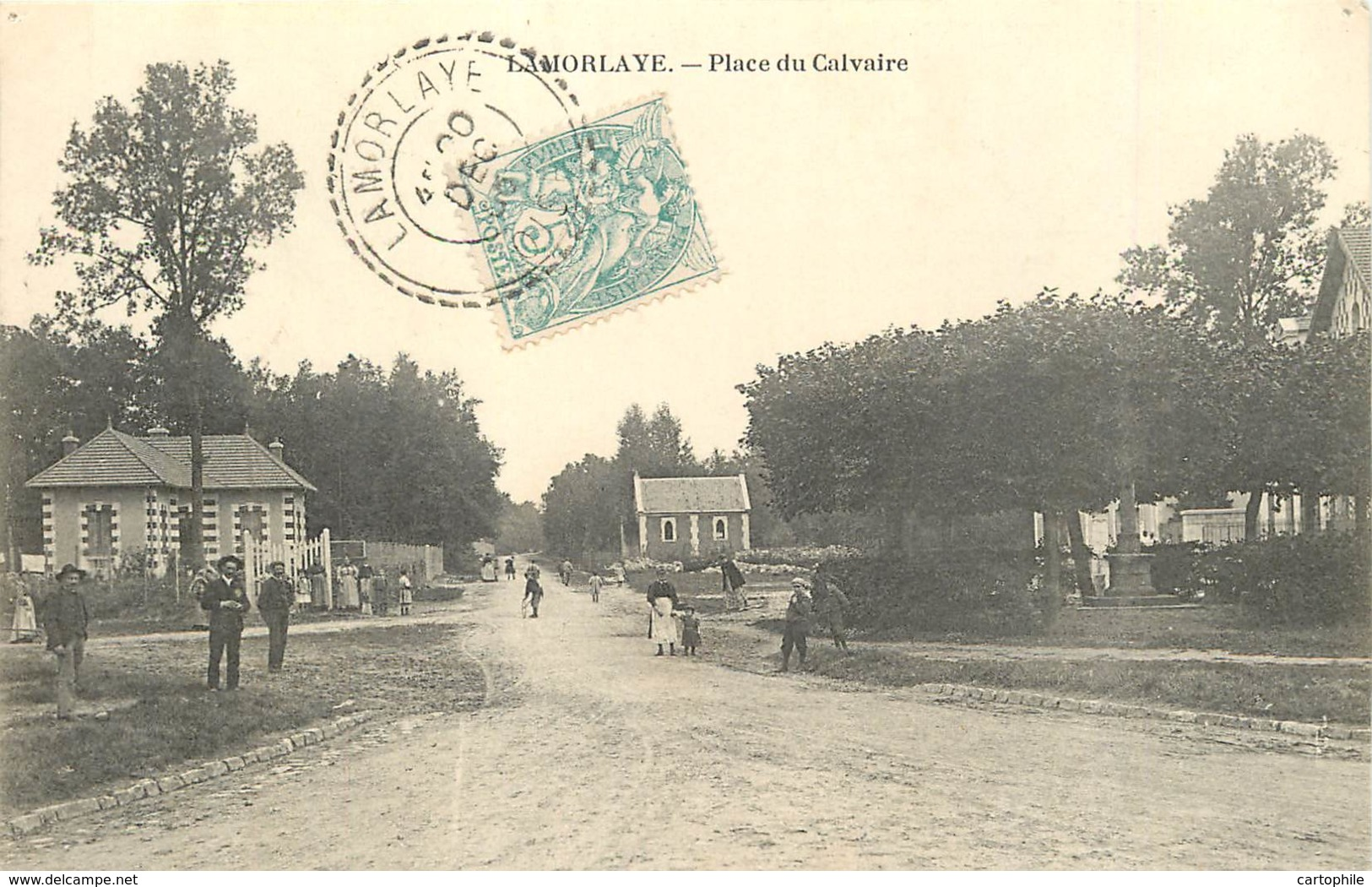 60 - LAMORLAYE - Place Du Calvaire En 1905 - France