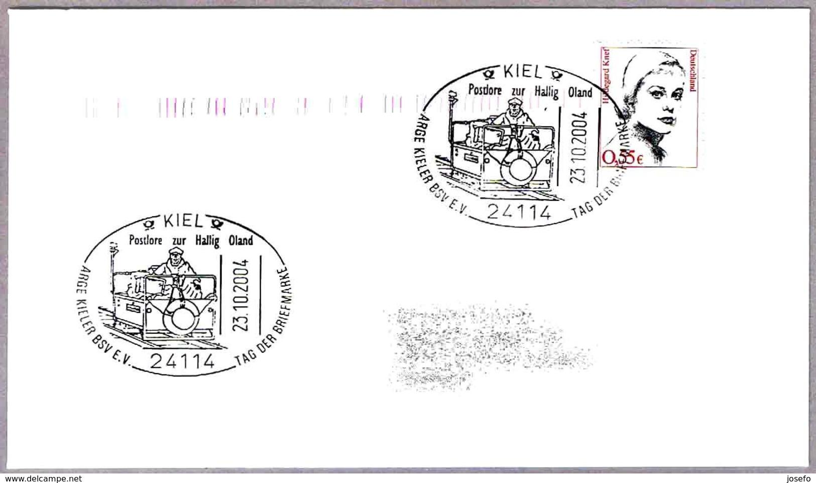 TRANSPORTE POSTAL - POSTLORE ZUR HALLIG OLAND. Kiel 2004 - Correo Postal