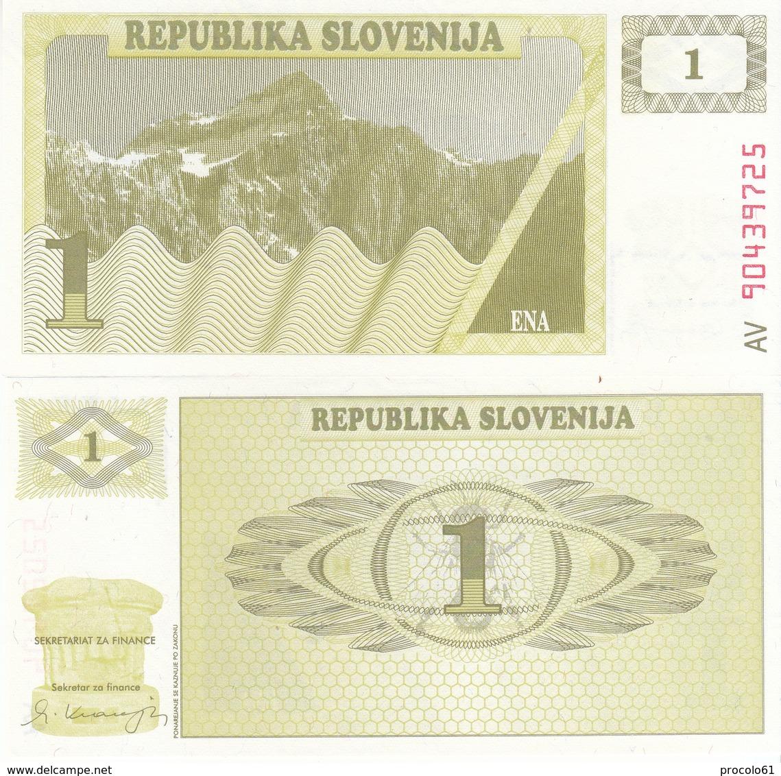 SLOVENIA SLOVENIJA 1 TOLARJEV 1990 FDS UNC - Serbie