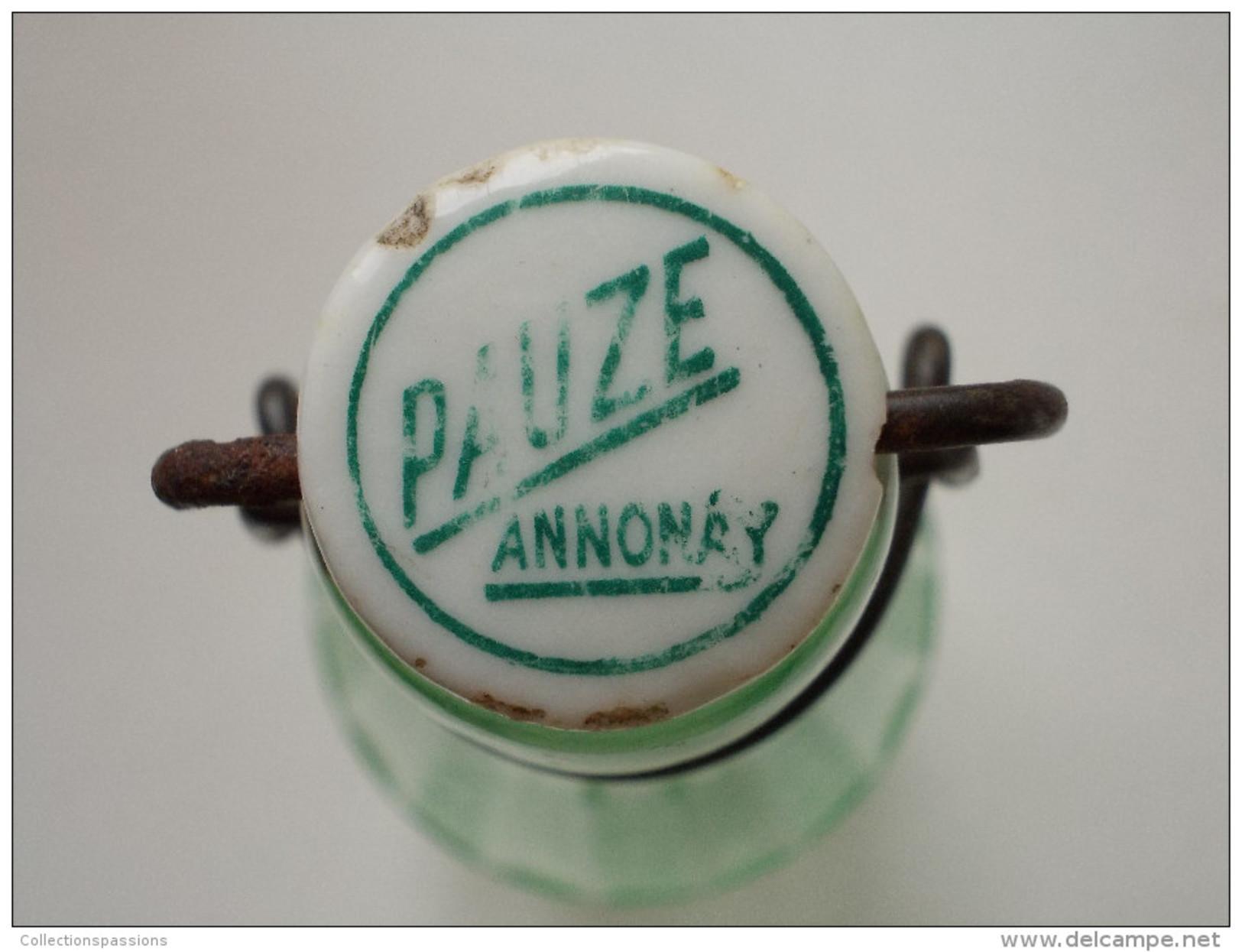 - RARE - Ancienne Bouteille LAURENT - PAUZE - Annonay  - - Autres Collections