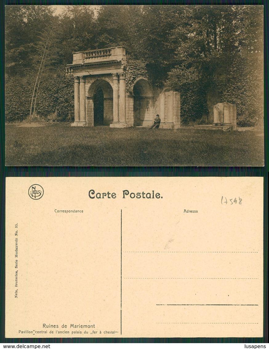 OF [17548] - BELGIUM - MARIEMONT - RUINES DE MARIEMONT PVILLON CENTRAL - Morlanwelz