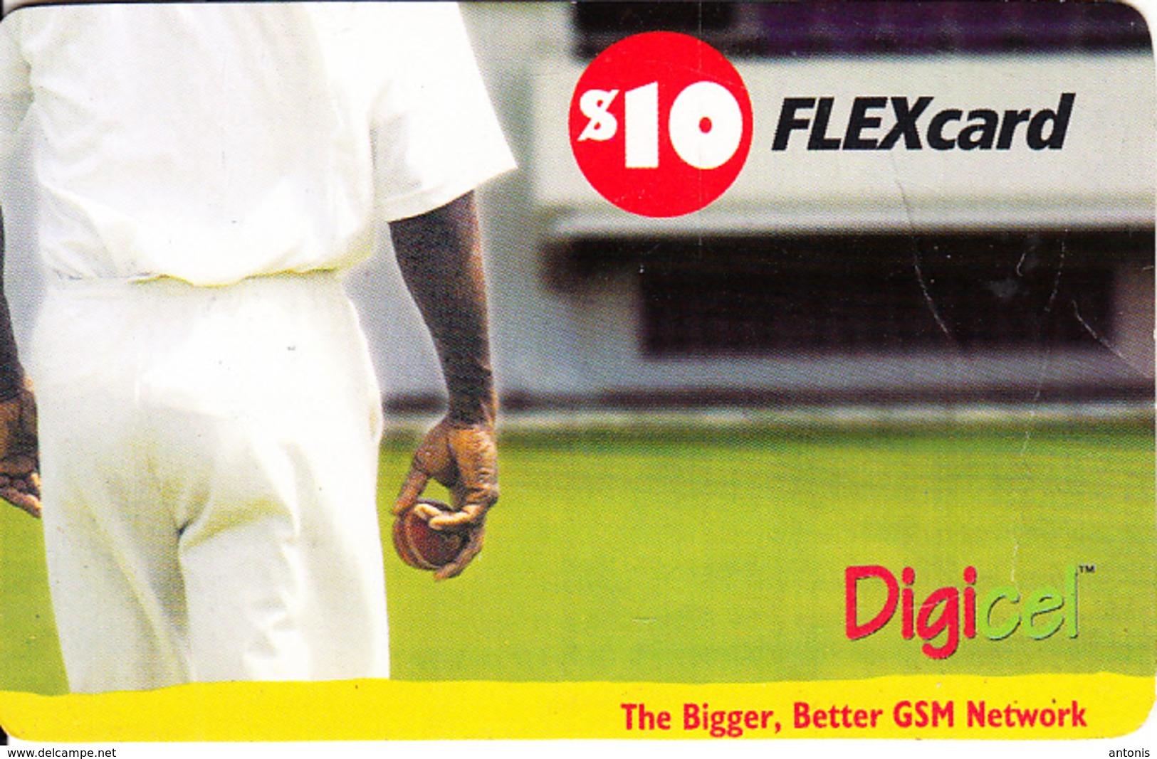 ST. VINCENT & THE GRENADINES - Cricket, Digicel Recharge Card $10, Exp.date 27/10/09, Used - San Vicente Y Las Granadinas