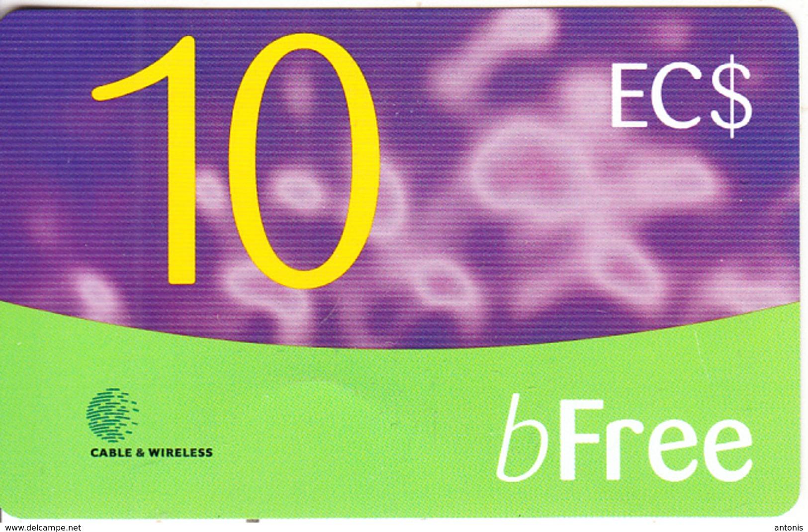 ST. VINCENT & THE GRENADINES - C&W Prepaid Card EC$10, Used - San Vicente Y Las Granadinas