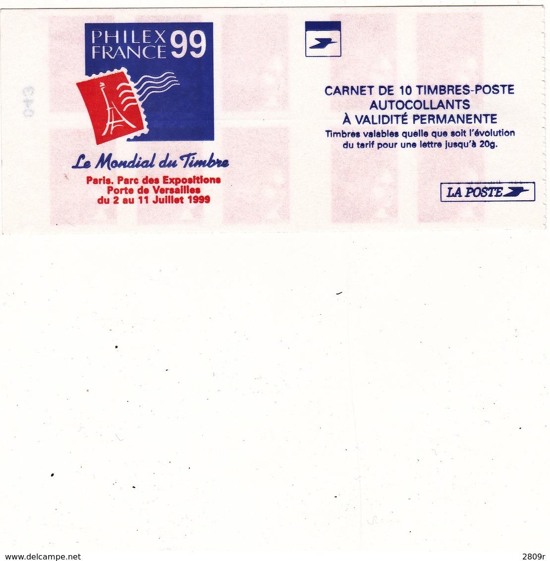 3085-C4philexfrance 99  Marianne Du 14 Juillet - Carnets