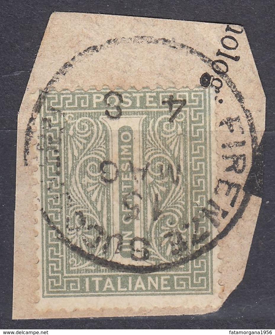 ITALIA - 1863 - Yvert 12 Usato Su Frammento Di Busta, Come Da Immagine. - 1861-78 Vittorio Emanuele II