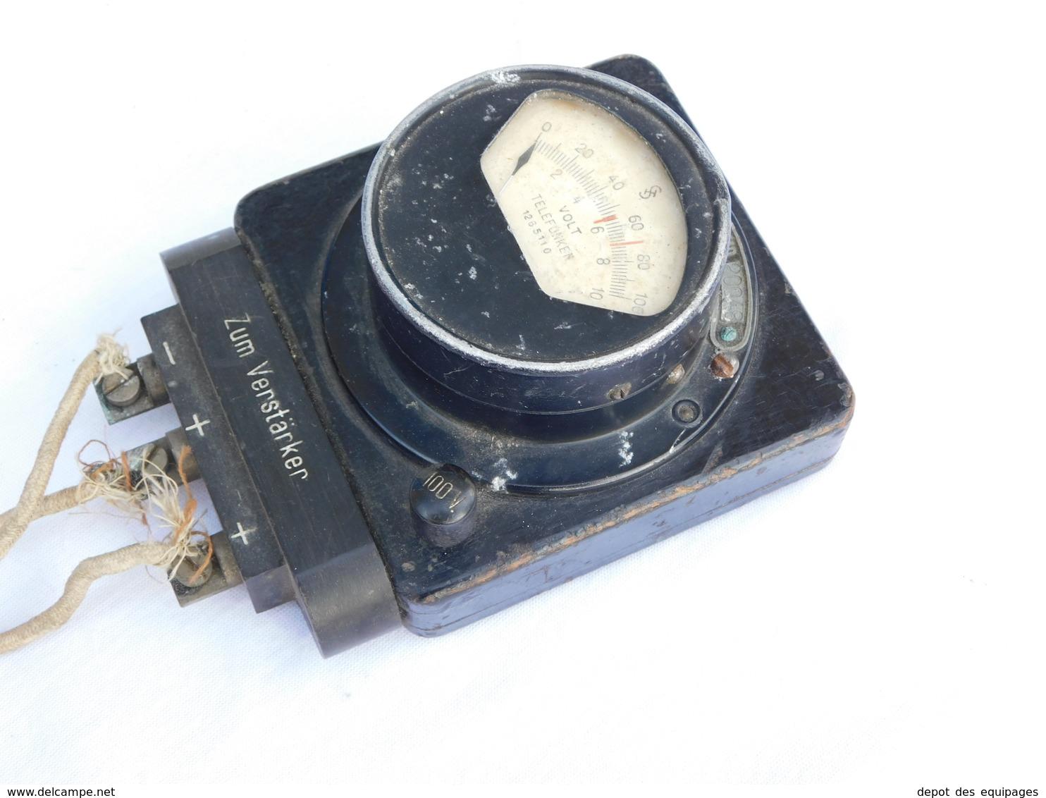 VOLTMETRE  TELEFUNKEN ALLEMAGNE 39-45 ...... - Radio