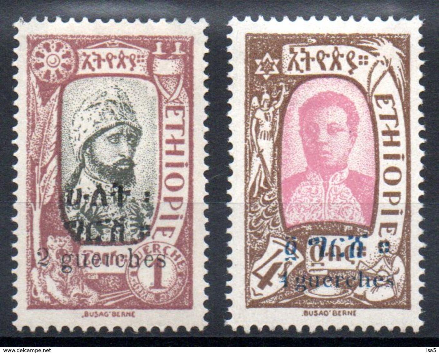 ETHIOPIE - YT N° 134A + 137 - Neufs * - MH - Cote 42,00 € - Etiopía