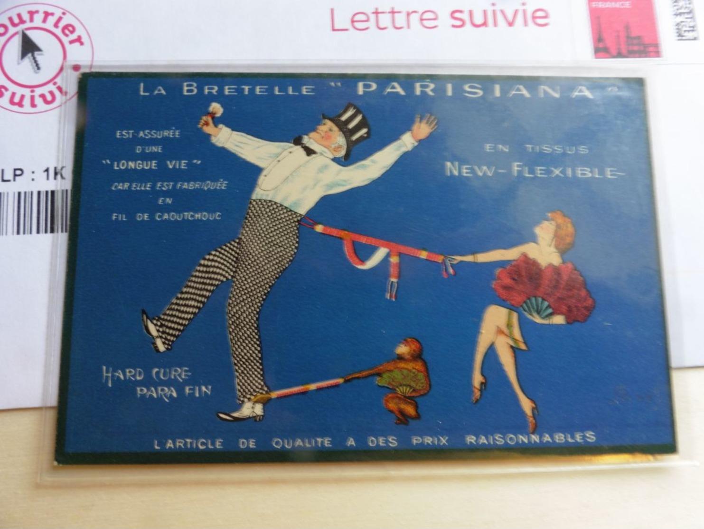 Publicité Illustration  La Bretelle Parisiana New Flexible - Publicité