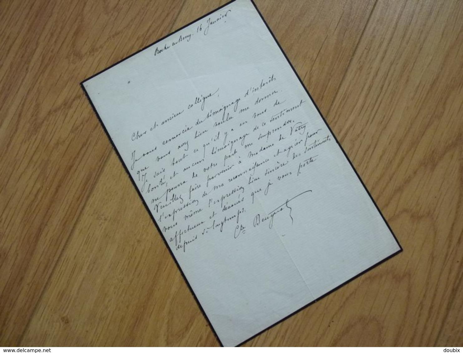 COMTE Arthur BEUGNOT (1797-1865) PAIR De FRANCE. Haute Marne CHAUMONT. ACADEMIE Belles Lettres. AUTOGRAPHE - Autogramme & Autographen