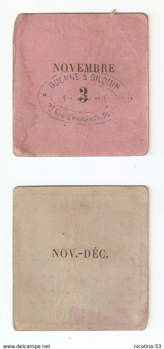 CT--00001-- JETON DE SERVICE- EXPOSITION UNIVERSELLE INTERNATIONALE DI PARIGI DEL 1900 - Biglietti D'ingresso