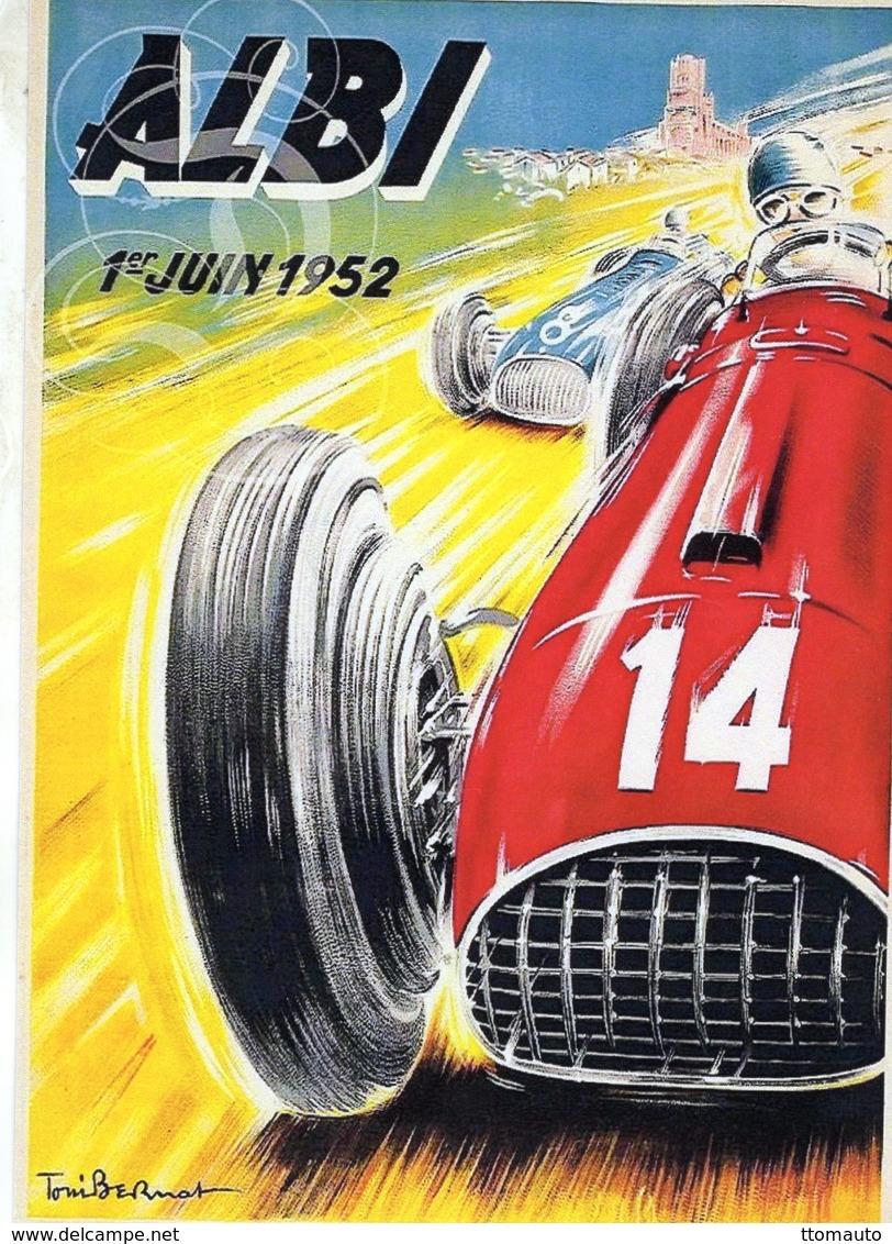 Grand Prix  à  Albi  1952      -  Publicité  -  CPR - Grand Prix / F1