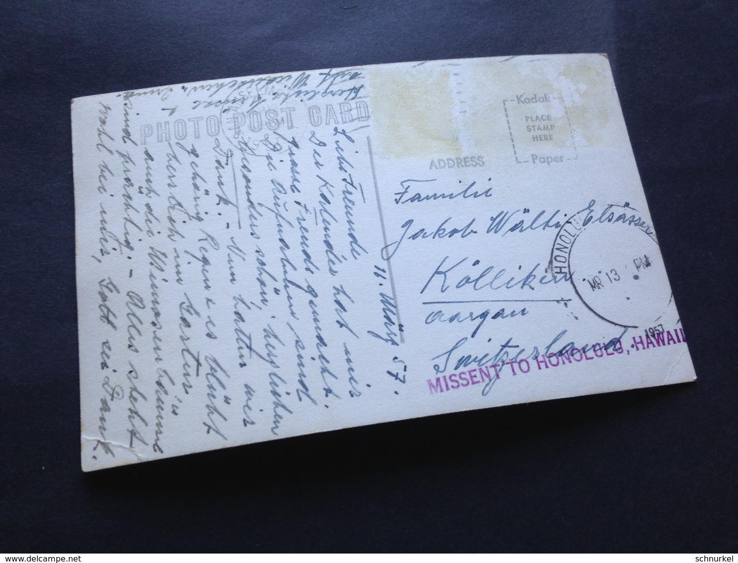 MEADOW CLUB ON MT. TAMALPAIS - MISSENT TO HONOLULU - HAWAI - 1957 - Palau