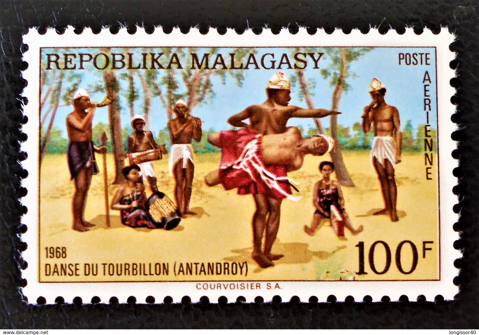 DANSE DU TOURBILLON 1968 - NEUF ** - YT PA 107 - MI 593 - Madagascar (1960-...)