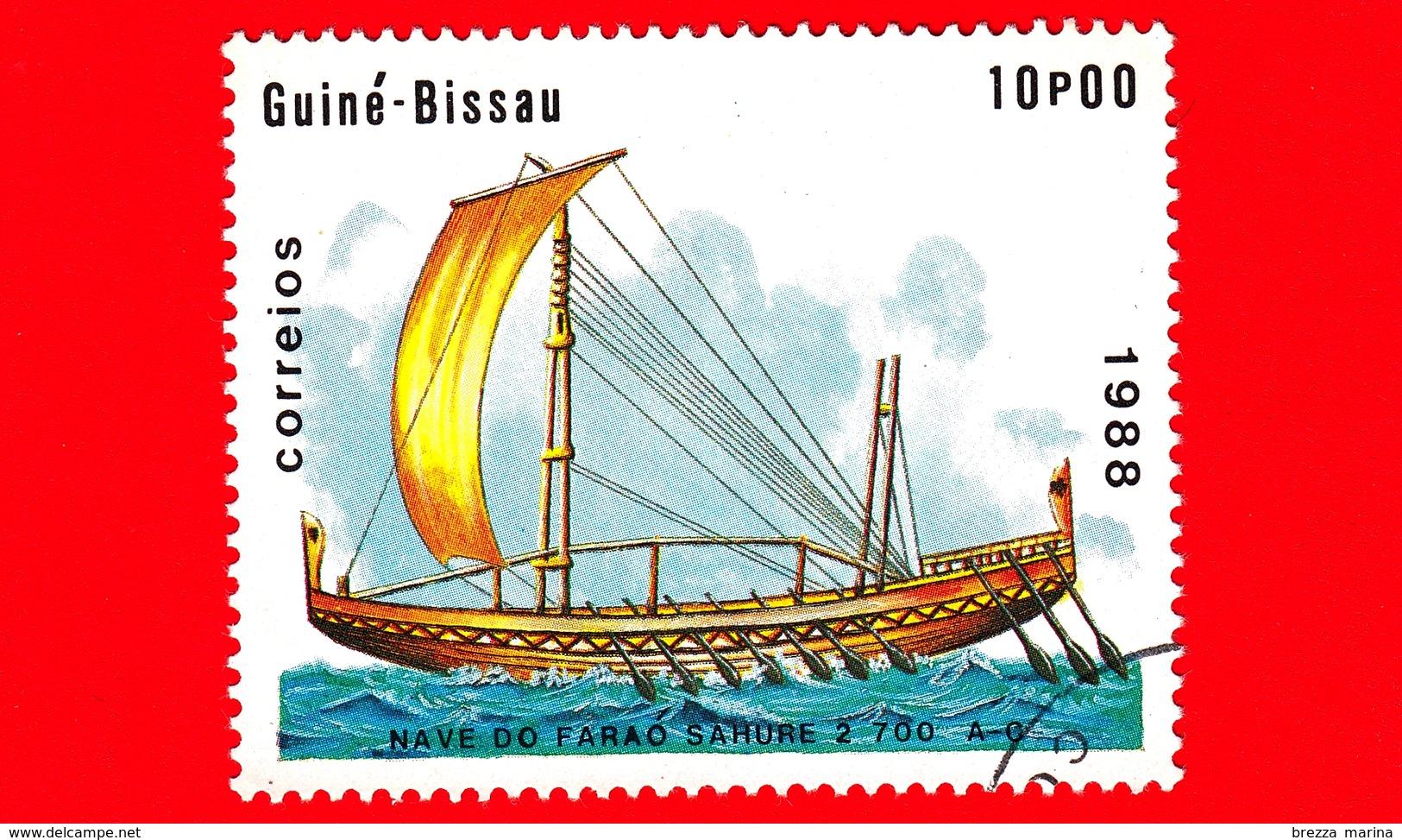 GUINEA BISSAU - 1988 - Navi - Velieri - Egitto - Nave Del Faraone Sahu 2 700 AC - 10 - Guinea-Bissau