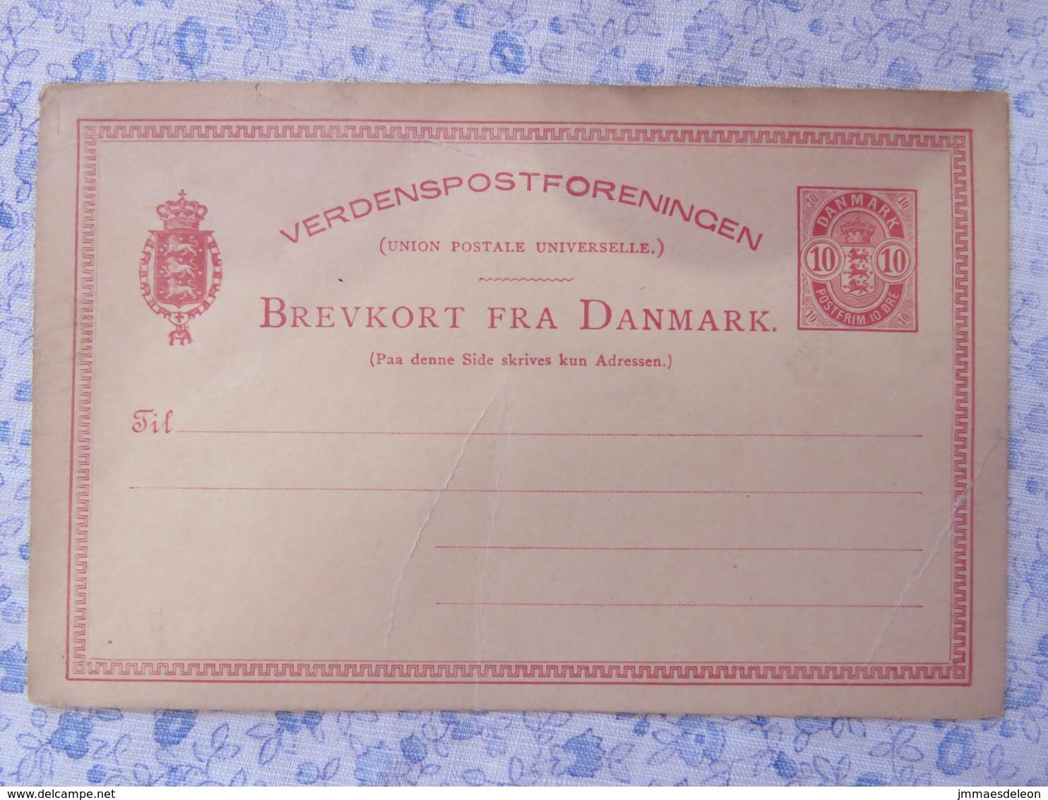 Denmark Around 1890 - 1900 Stationery Card Unused - Arms Lions - 1864-04 (Christian IX)