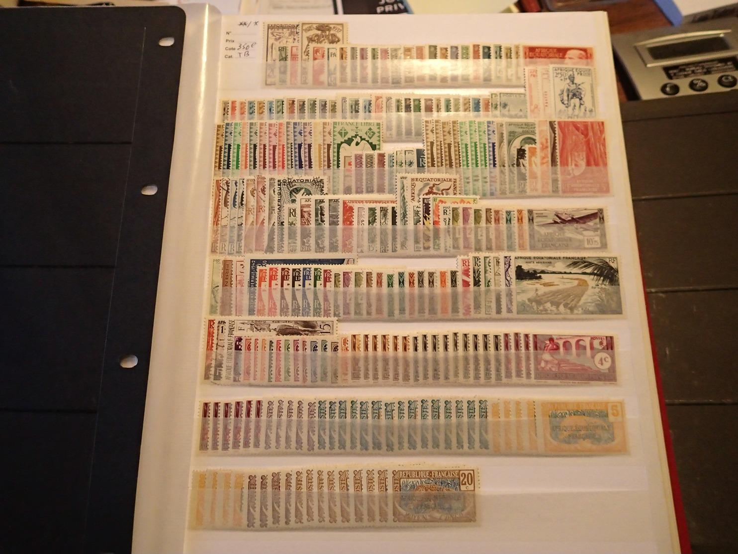 LOT AEF */**/ob Cote 350€. - Unused Stamps
