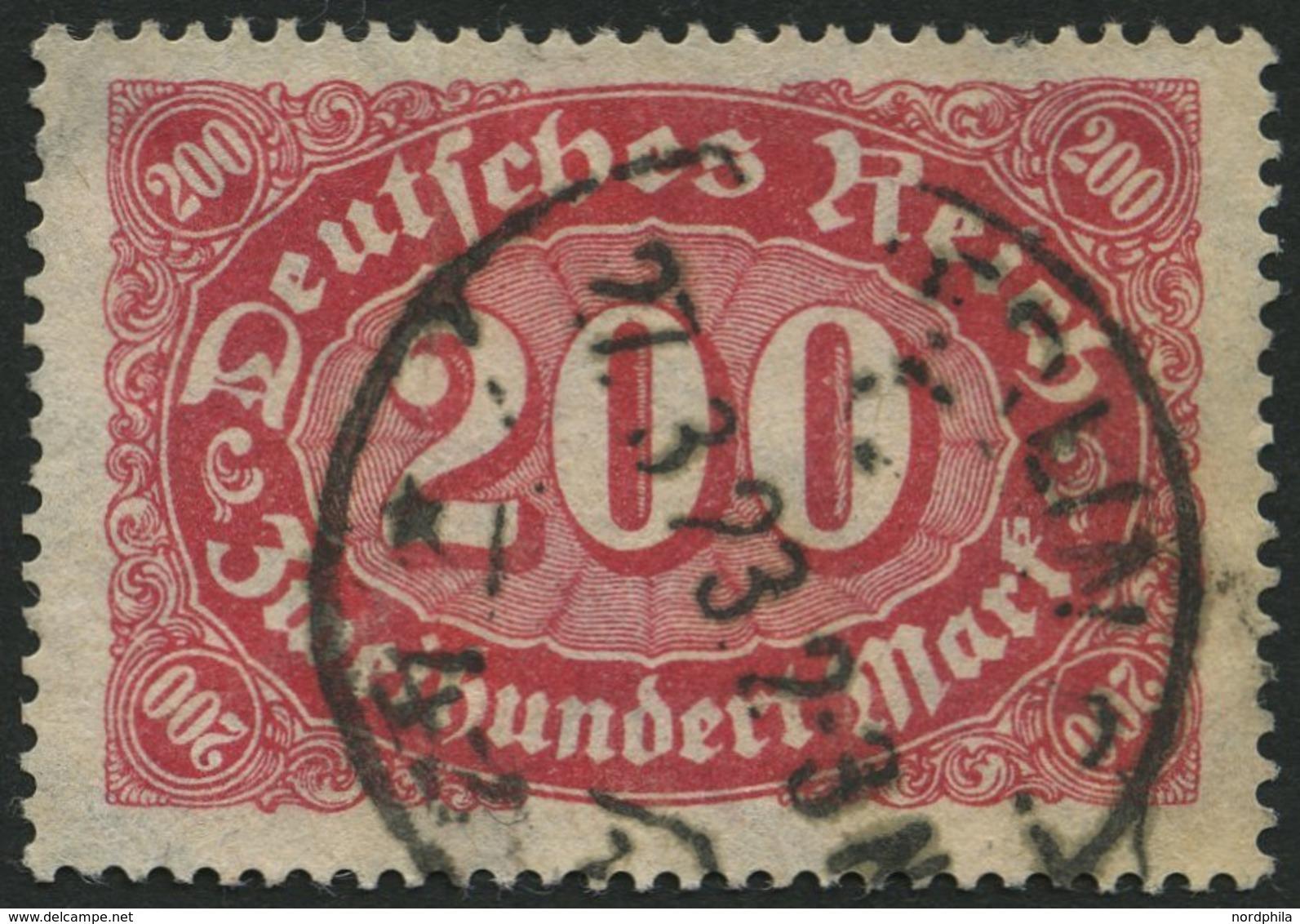 Dt. Reich 248b O, 1923, 200 M. Rotlila, Ein Kurzer Zahn Sonst Pracht, Gepr. Tworek, Mi. 100.- - Used Stamps