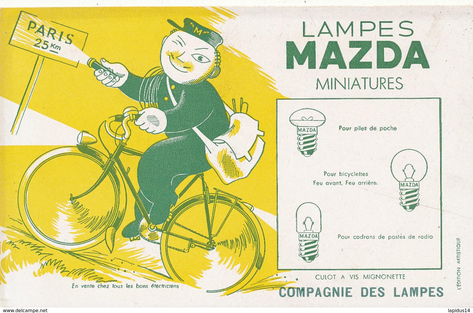 BU 1544 -/  BUVARD   LAMPES MAZDA   MINIATURES - Electricité & Gaz