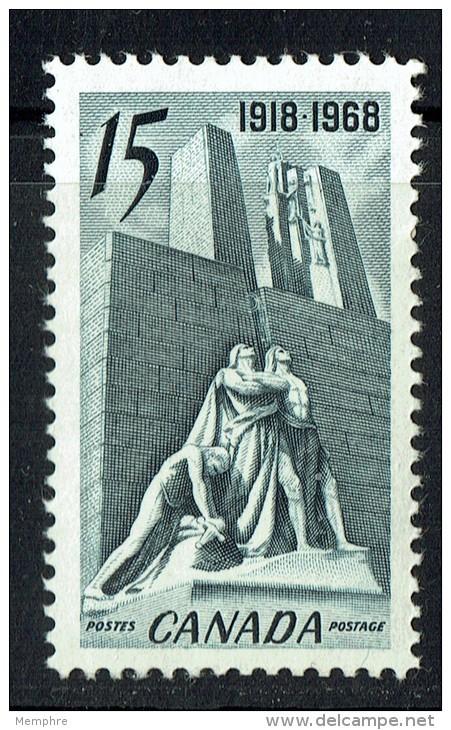 1968   Armistice Canadian Vimy Memorial  Sc 486  MNH - 1952-.... Règne D'Elizabeth II