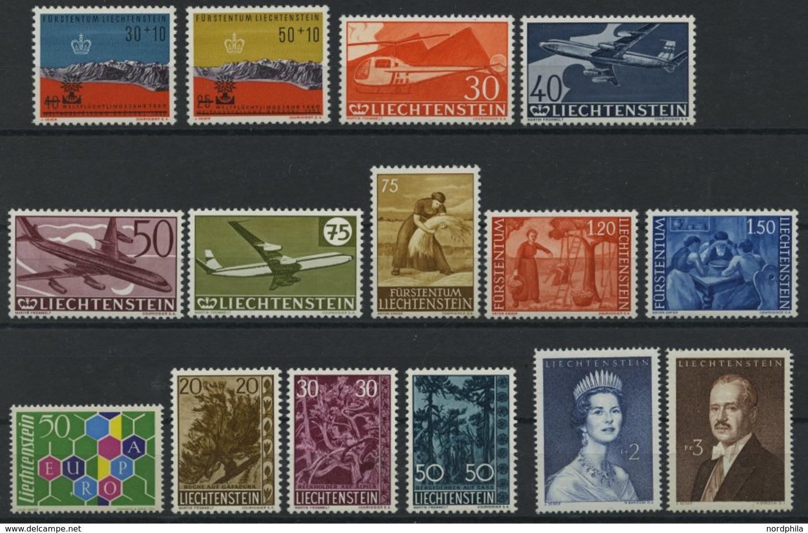 JAHRGÄNGE 389-403 **, 1960, Kompletter Postfrischer Jahrgang, Pracht, Mi. 154.70 - Liechtenstein