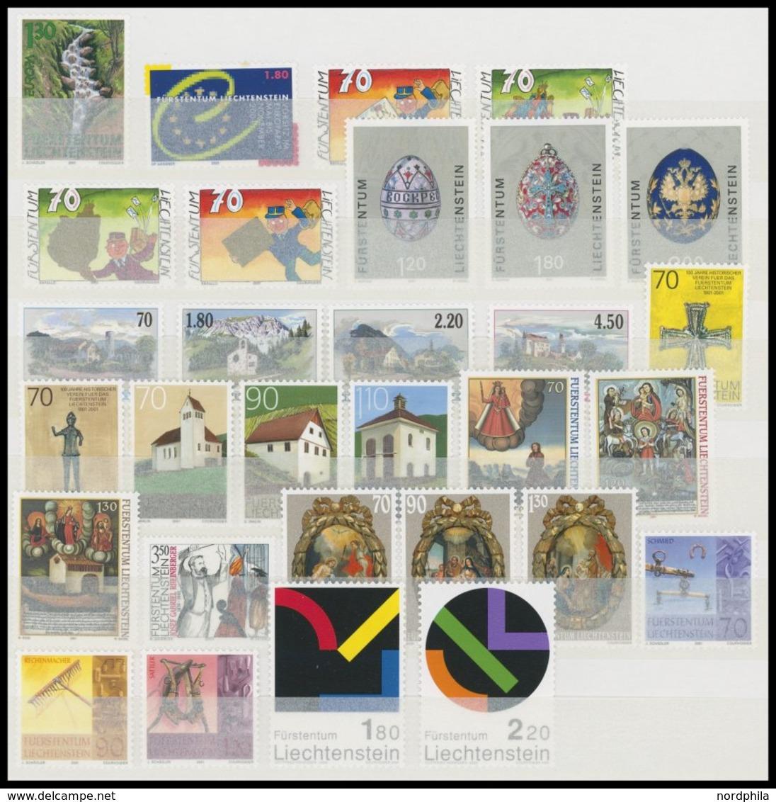 JAHRGÄNGE 1255-82 **, 2001, Kompletter Jahrgang, Postfrisch, Pracht, Mi. 102.90 - Liechtenstein