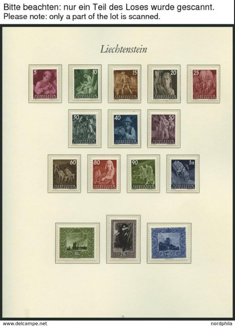 SAMMLUNGEN, LOTS **, Postfrische Sammlung Liechtenstein Von 1946-88 Mit Mittleren Ausgaben Im Borek Falzlosalbum, Ab 196 - Liechtenstein